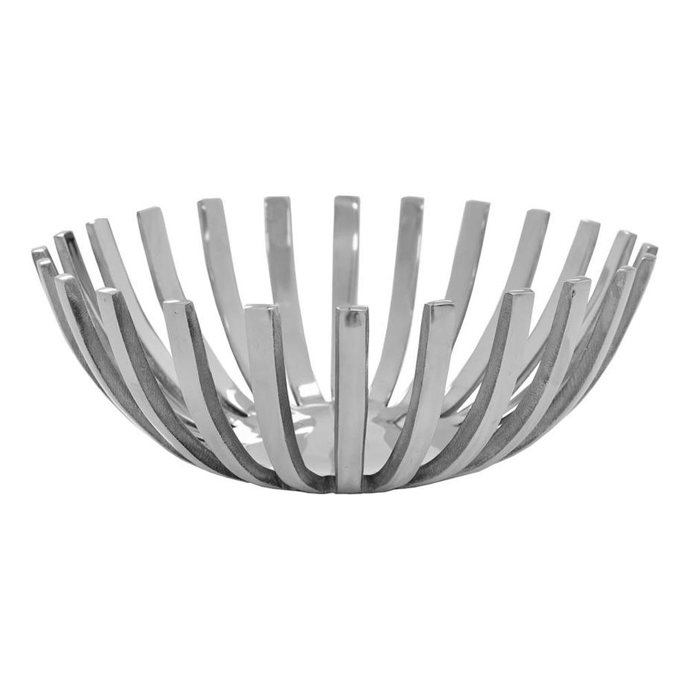"""14"""" Round Stainless Steel Modern Open Centerpiece Bowl"""