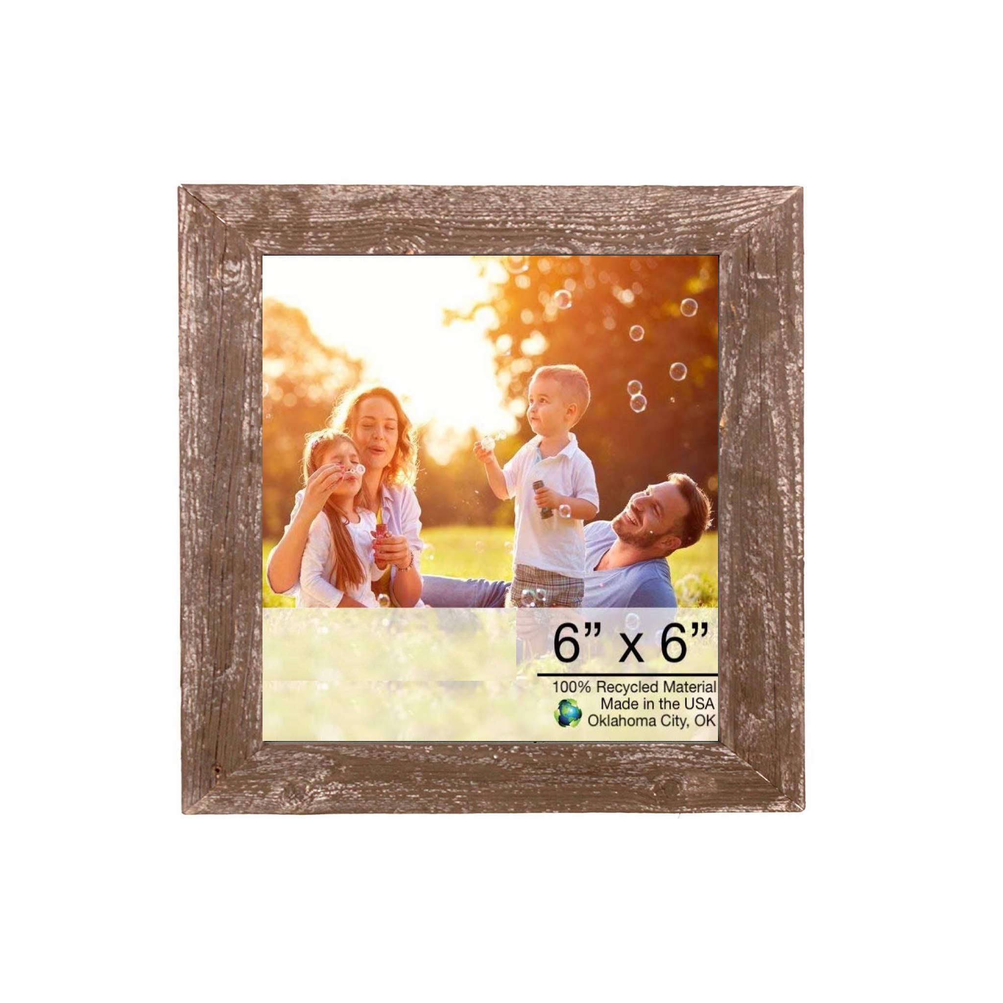 "6"" x 6"" Rustic Espresso Picture Frame"