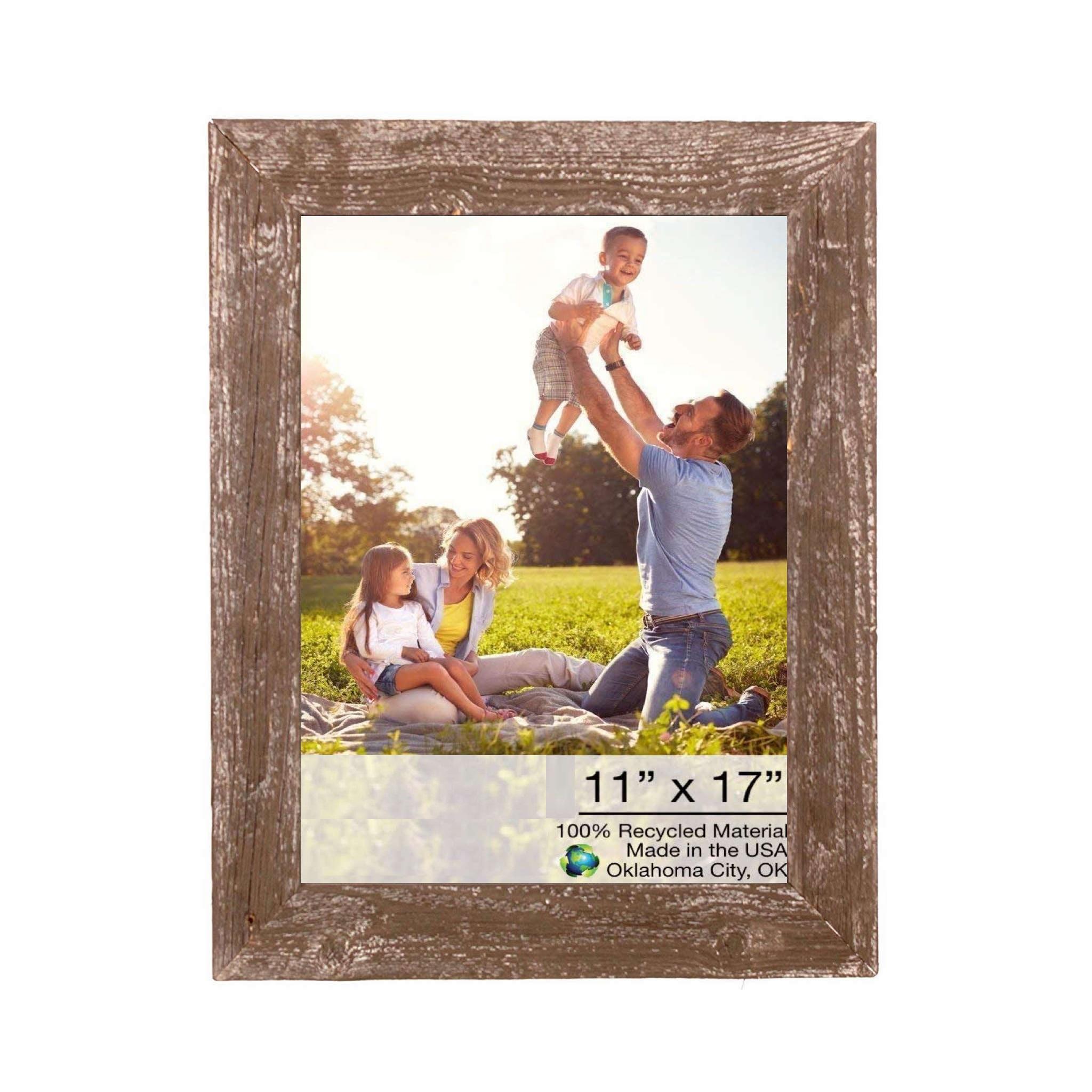"13""x19"" Rustic Espresso Picture Frame"