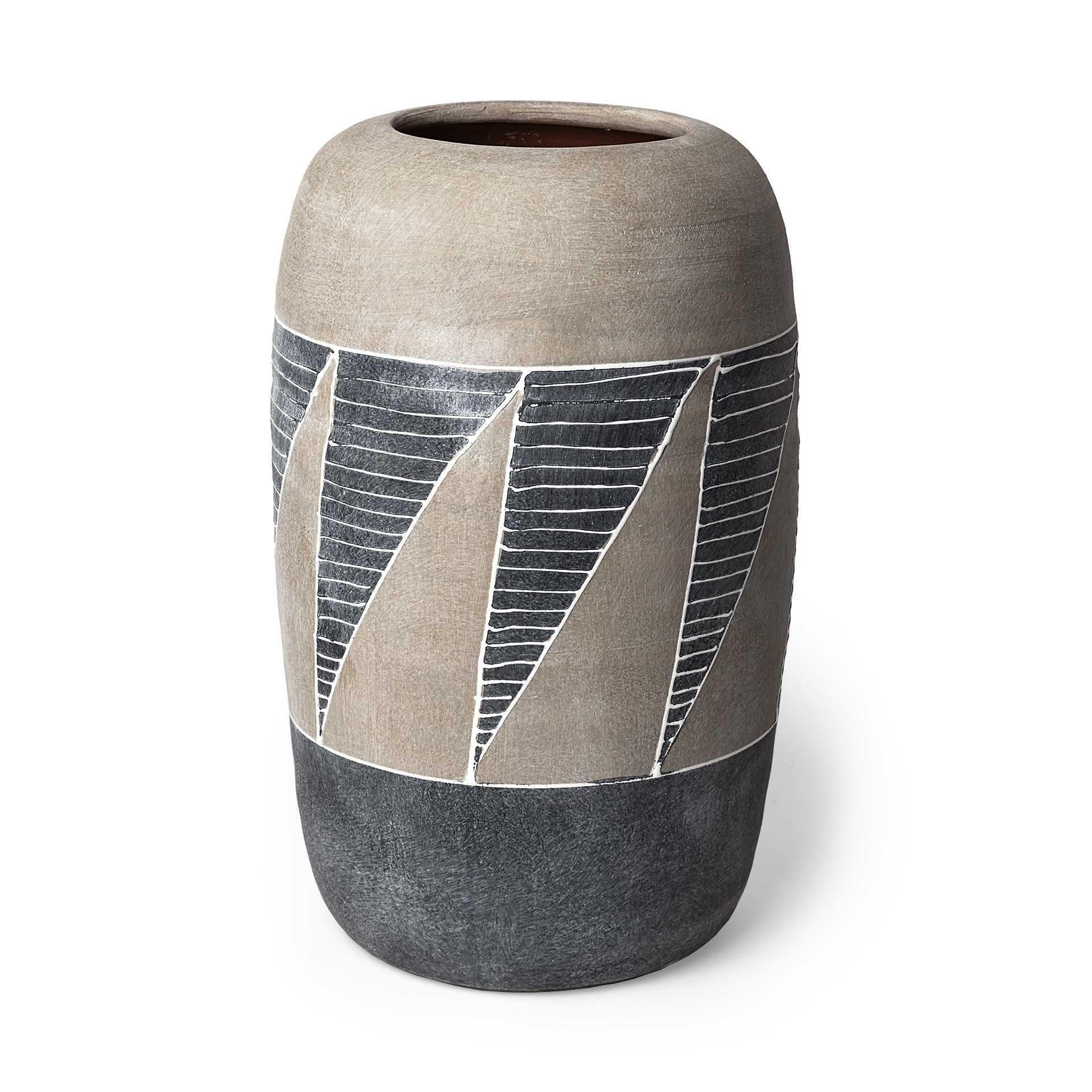Grey and Brown Ceramic Vase