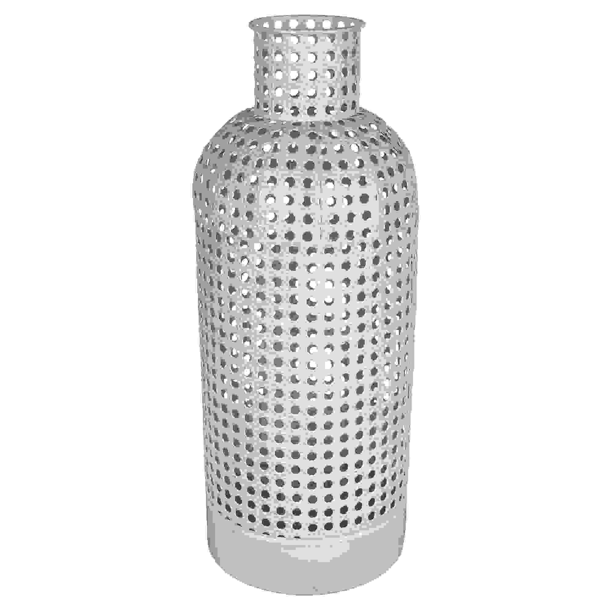 Stratton Home Decor Large Metal Cane Webb Vase