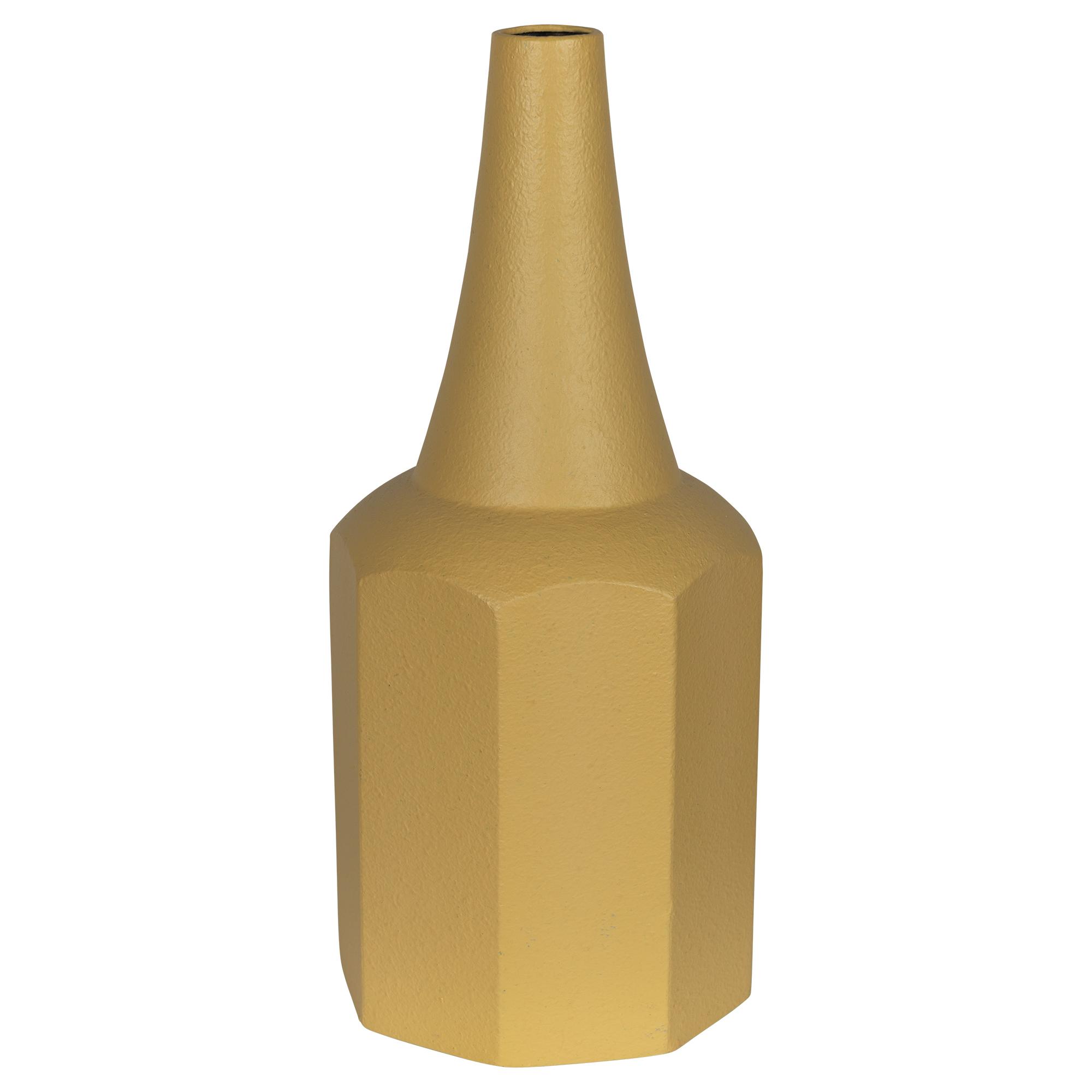 Stratton Home Decor Yellow Single Stem Vase