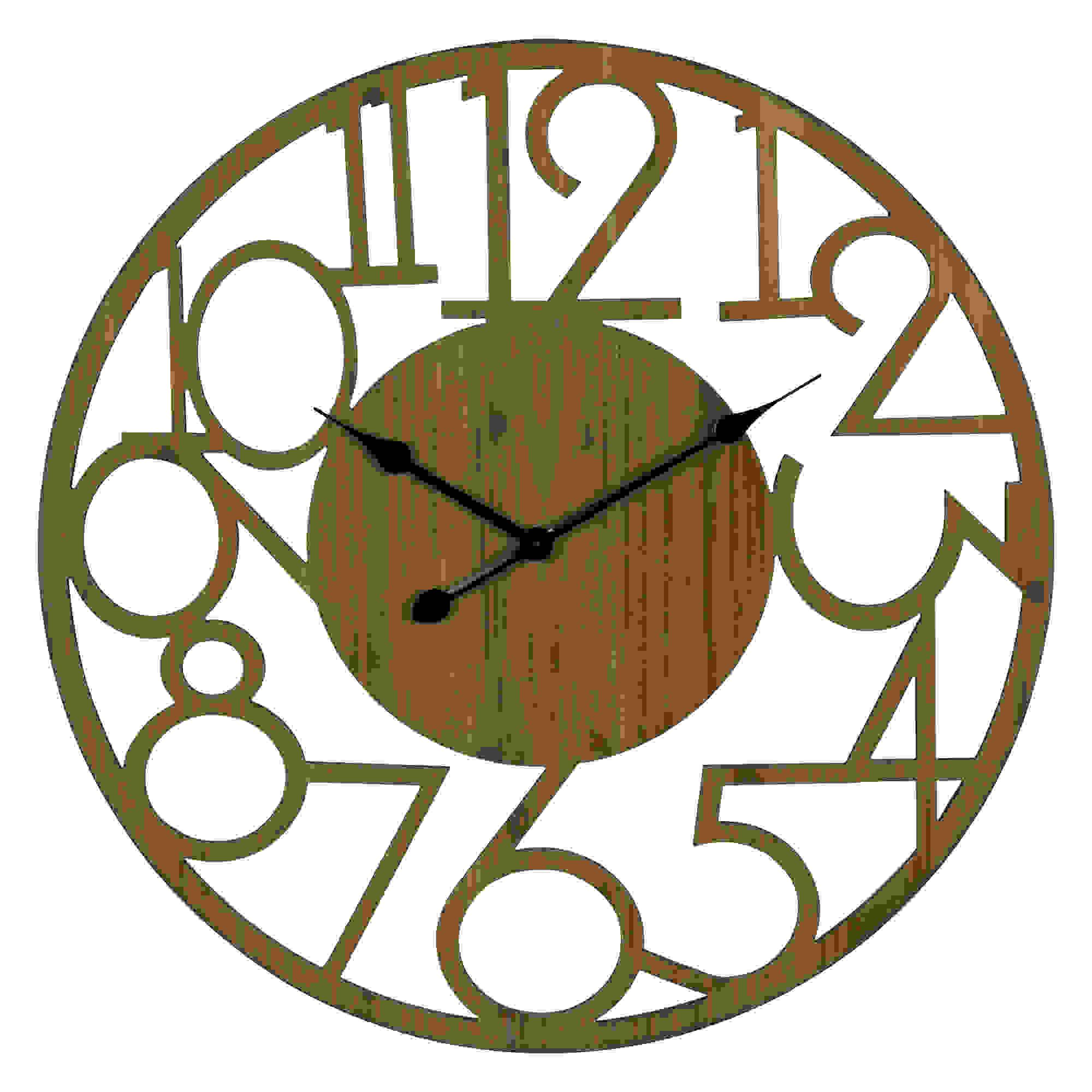 Stratton Home Decor Brady Natural Wood Wall Clock