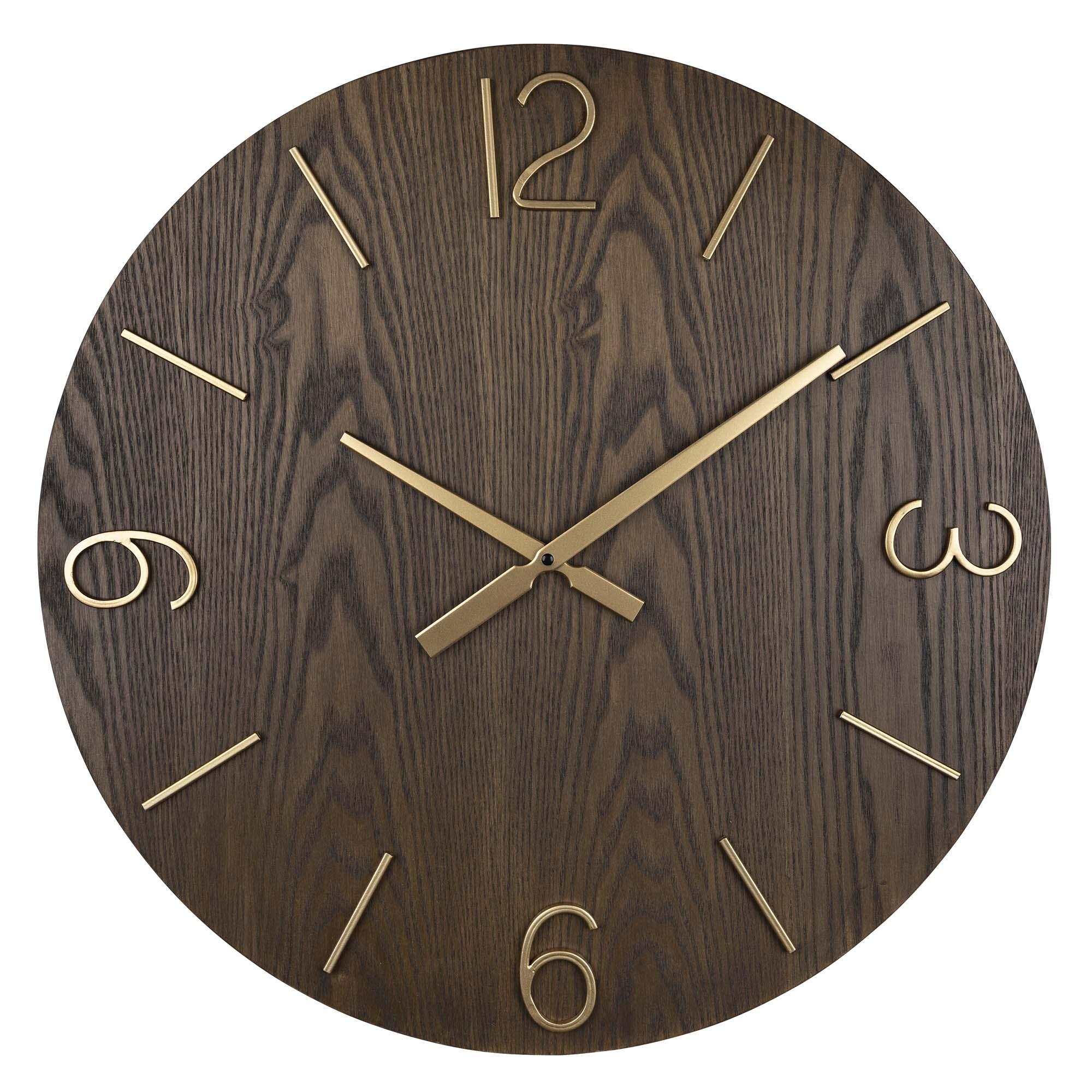 Stratton Home Decor Bennett Wood Wall Clock