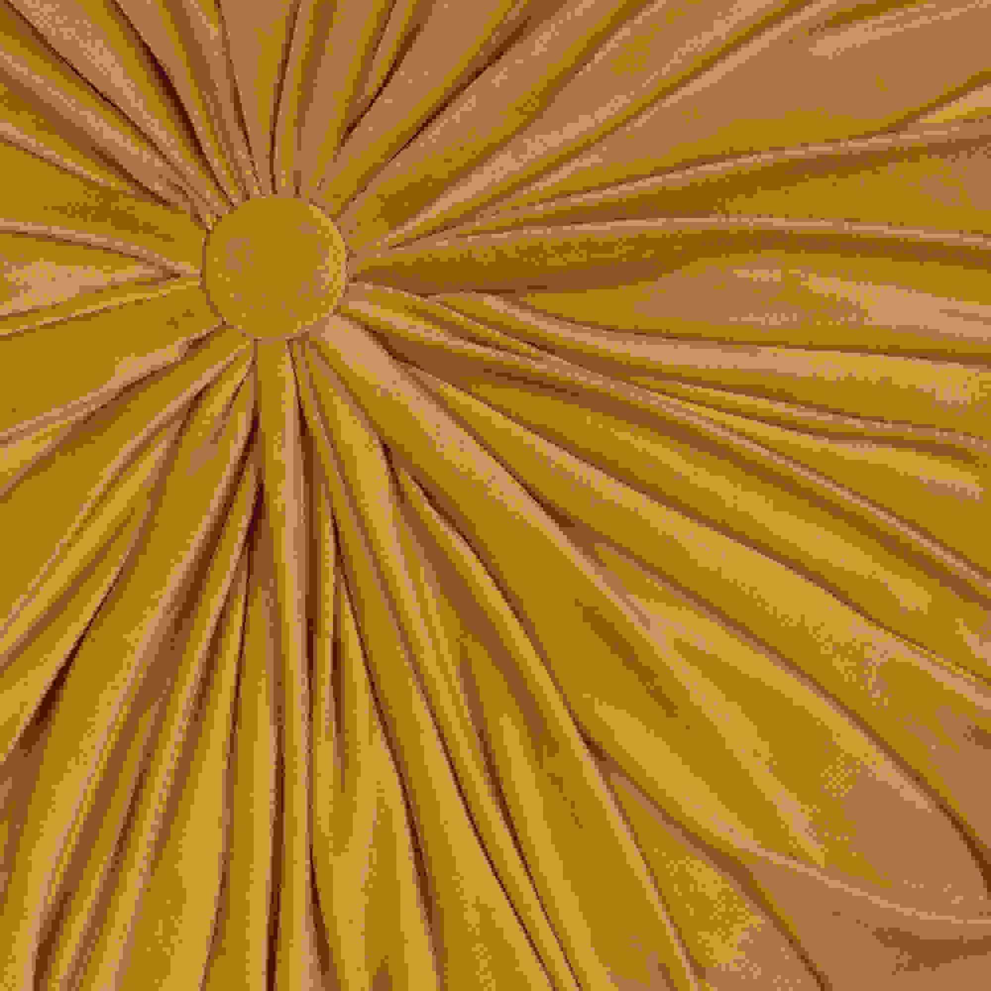 Stratton Home Decor Round Tufted Velvet Dark Yellow Pillow
