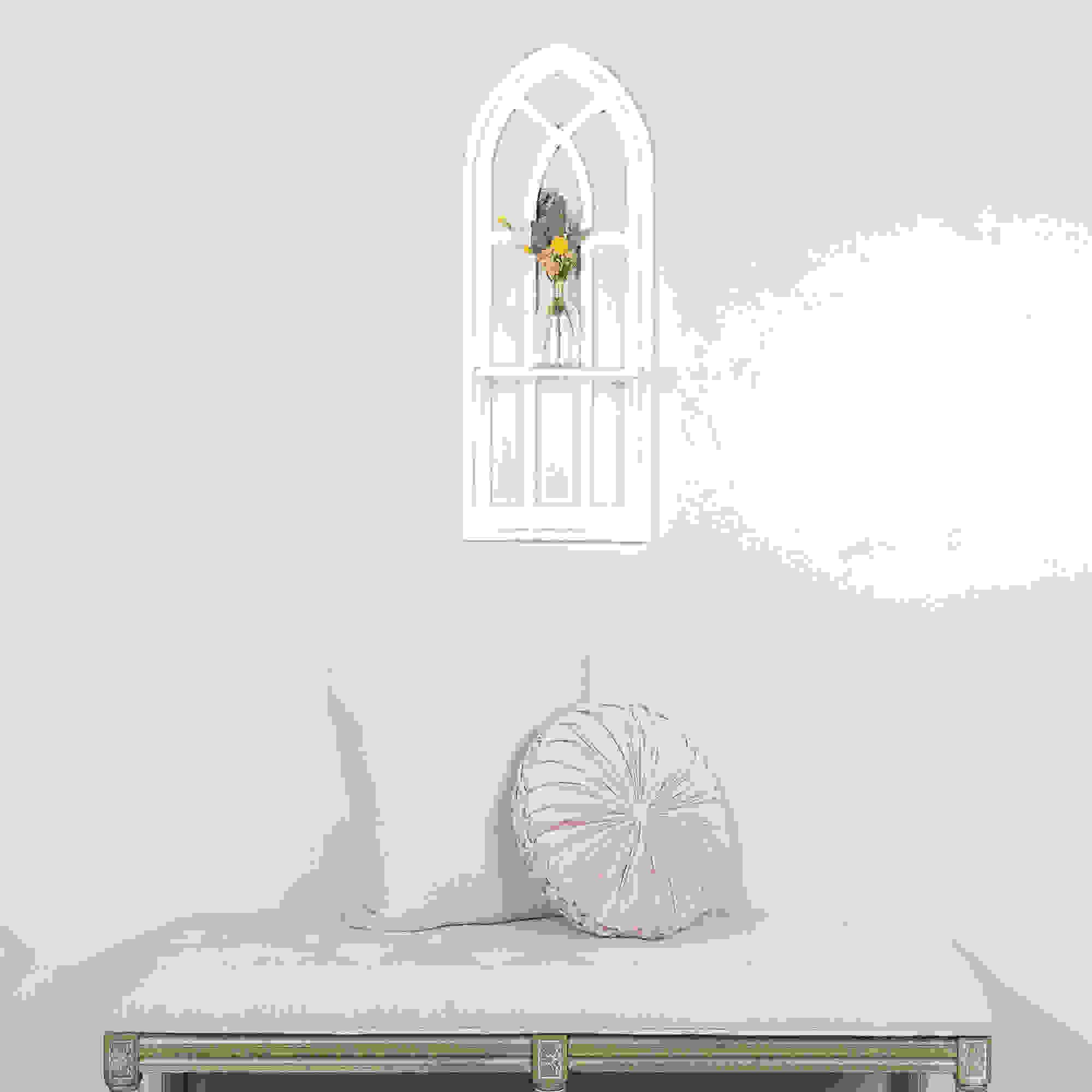 Stratton Home Decor Round Tufted Velvet Light Pink Pillow