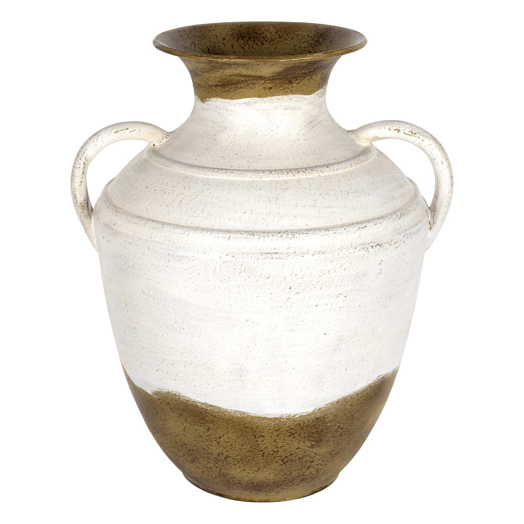 Vintage Two Toned Metal Table Vase