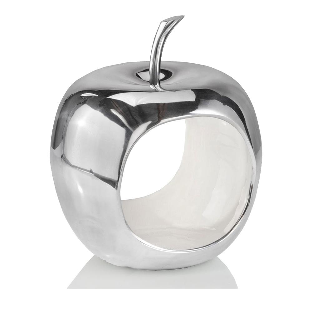 Apple Shaped Aluminum Decorative Accent Bowl