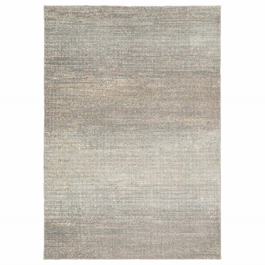 6' x 9' Gray Green Abstract Confetti Indoor Area Rug