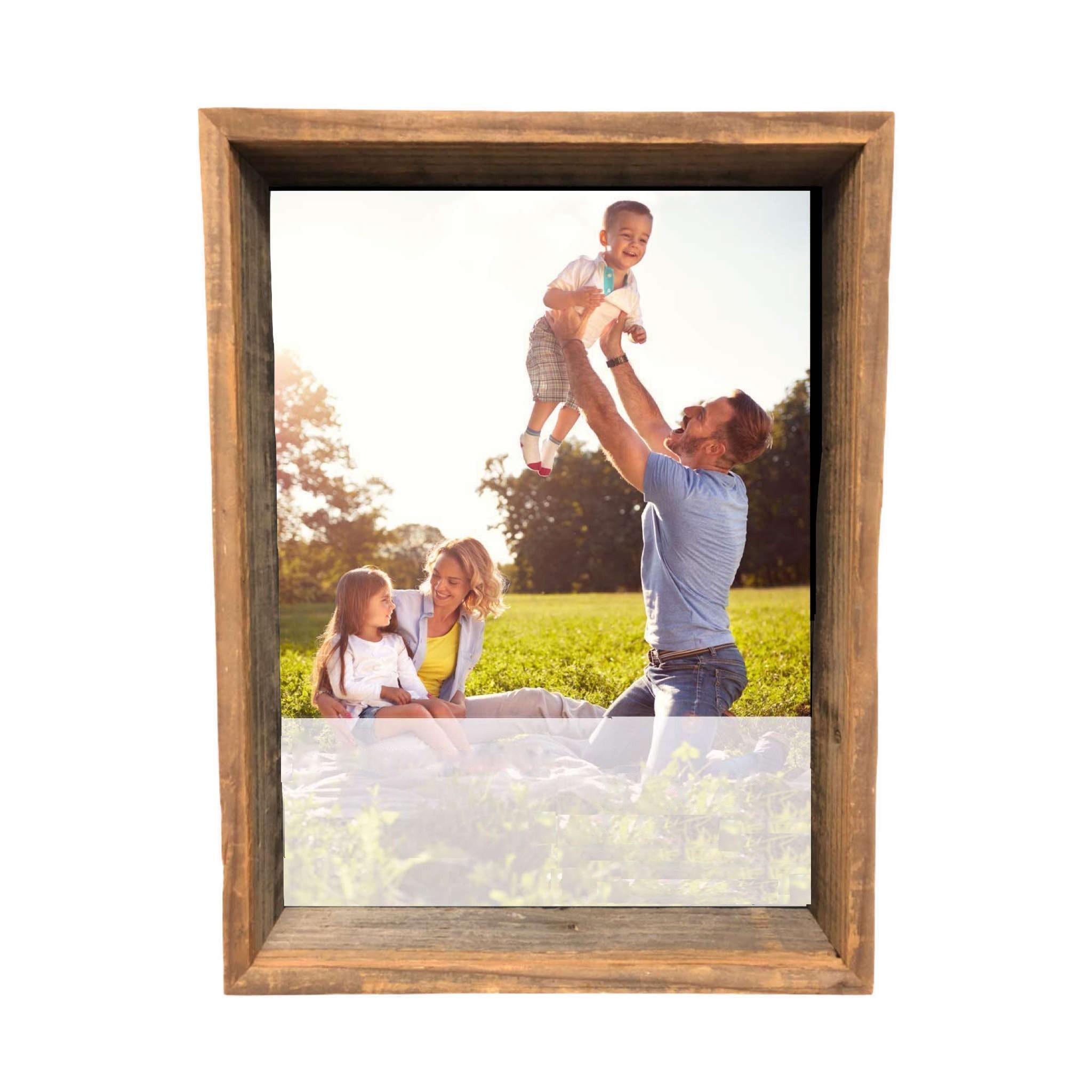 8 x 10 Rustic Farmhouse Gray Shadow Box Frame