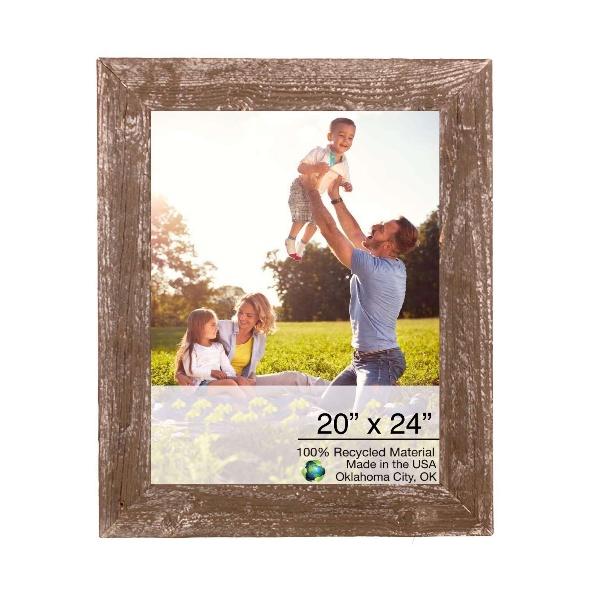 """20"""" x 24""""  Rustic Farmhouse Espresso Wood Frame"""