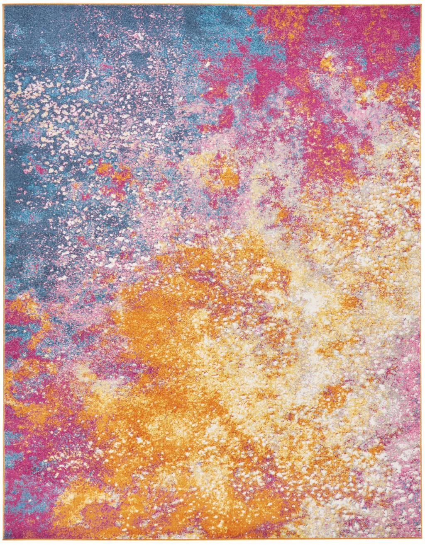 8' x 10' Abstract Brights Sunburst Area Rug