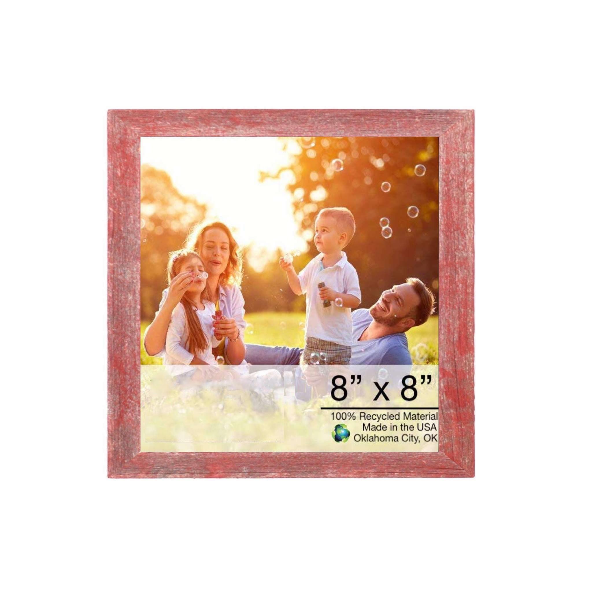 8 x 8 Rustic Farmhouse Espresso Wood Frame