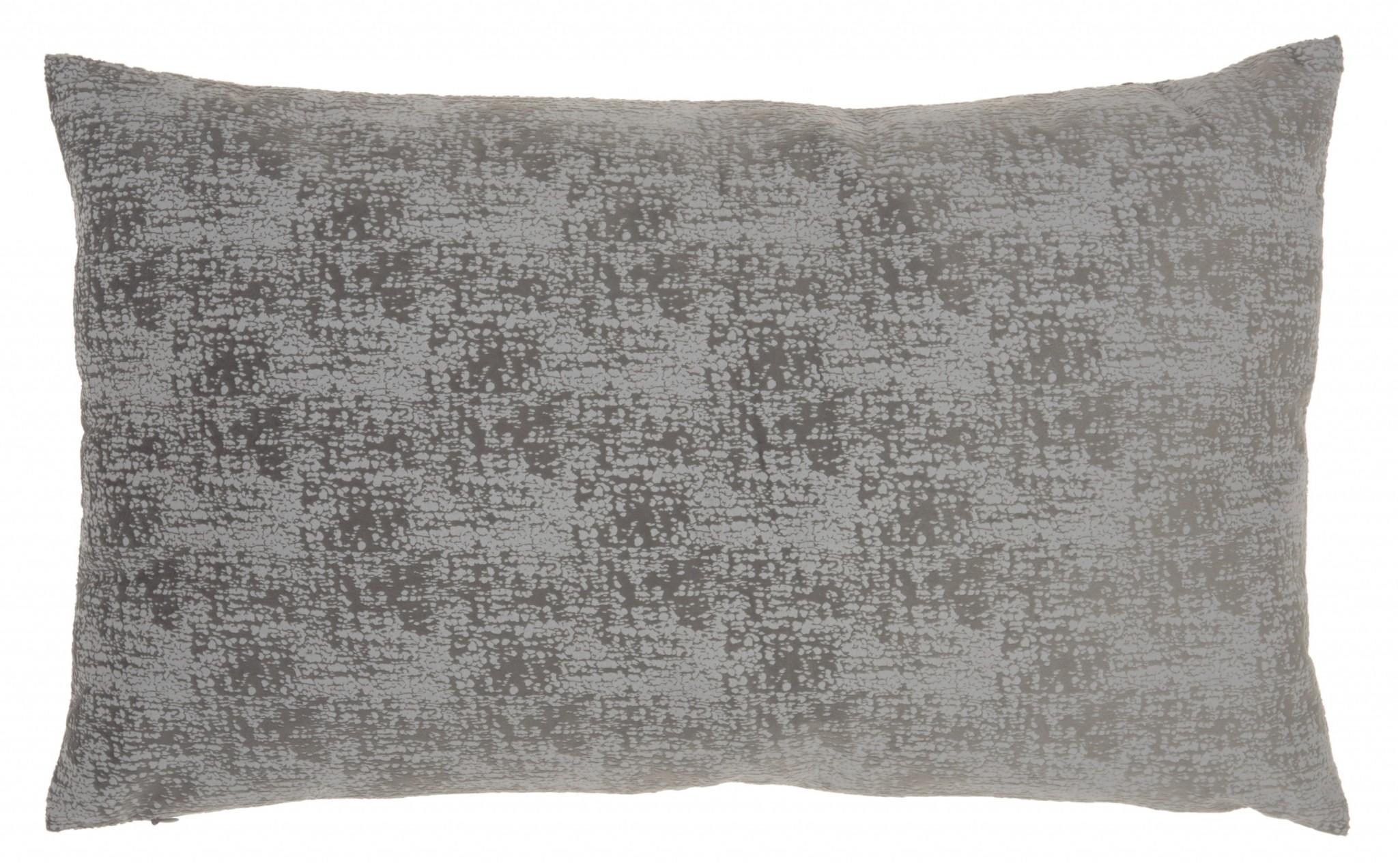 Slate Gray Distressed Gradient Lumbar Pillow