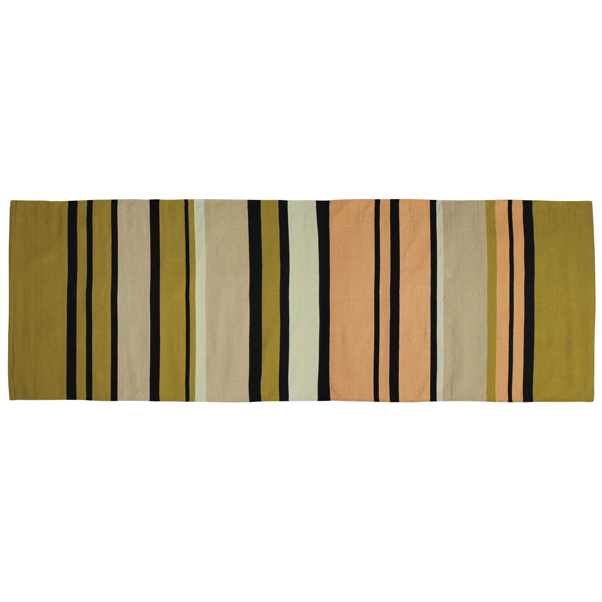 3' X 8' Multicolored Stripes Runner Rug