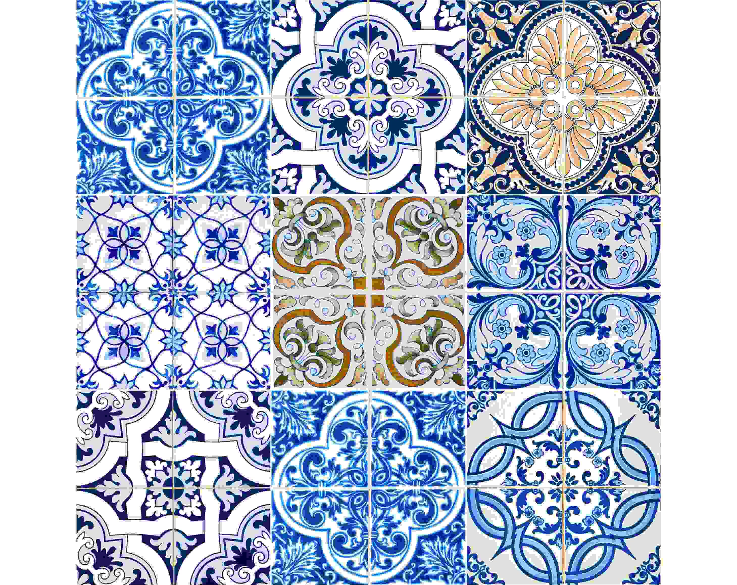 "5"" X 5"" Dianna Mutli Mosaic Peel and Stick Tiles"
