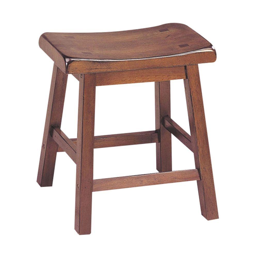 """17"""" X 14"""" X 18"""" Walnut Wood Stool (Set-2)"""