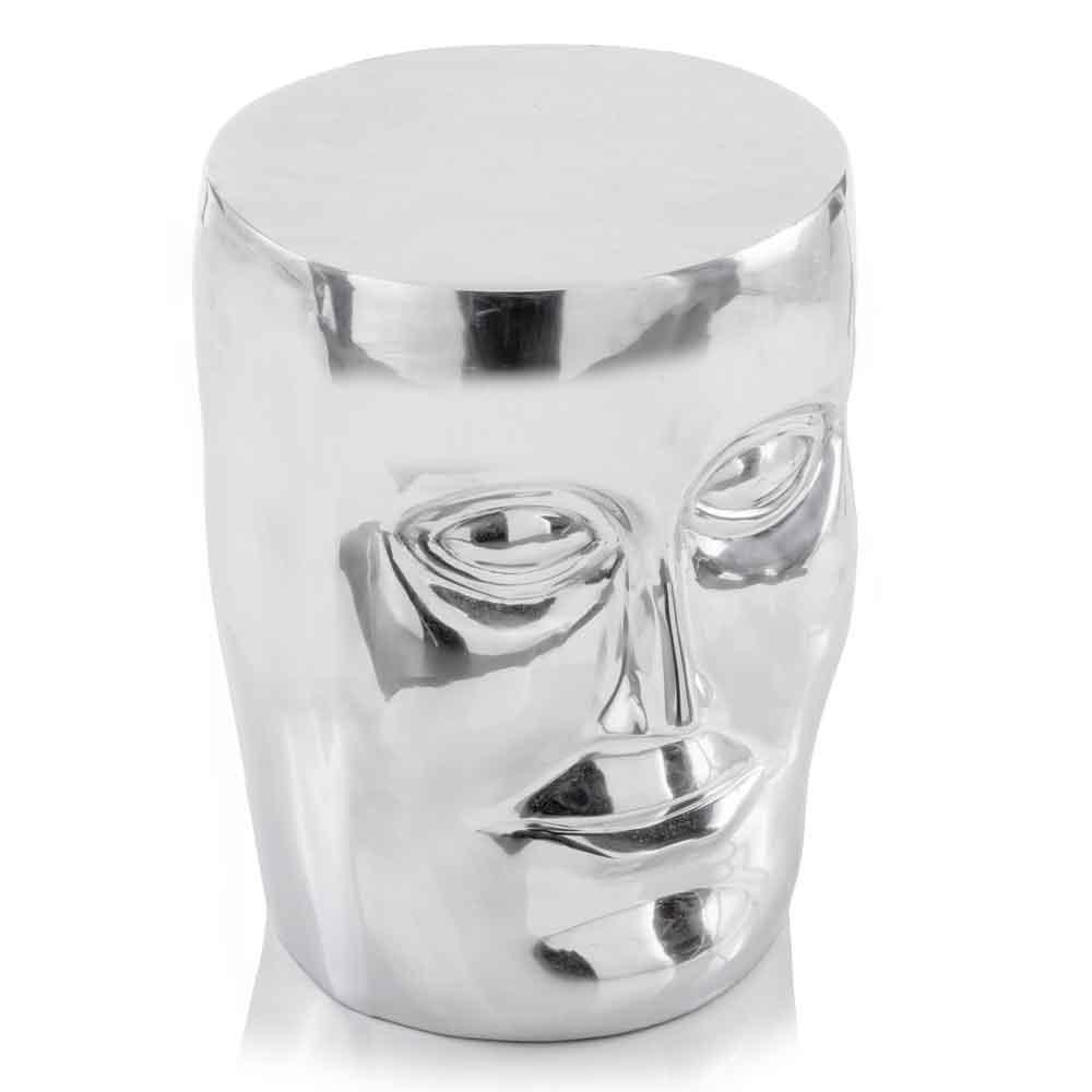 """13"""" x 13"""" x 18"""" Silver Aluminum Face Stool"""