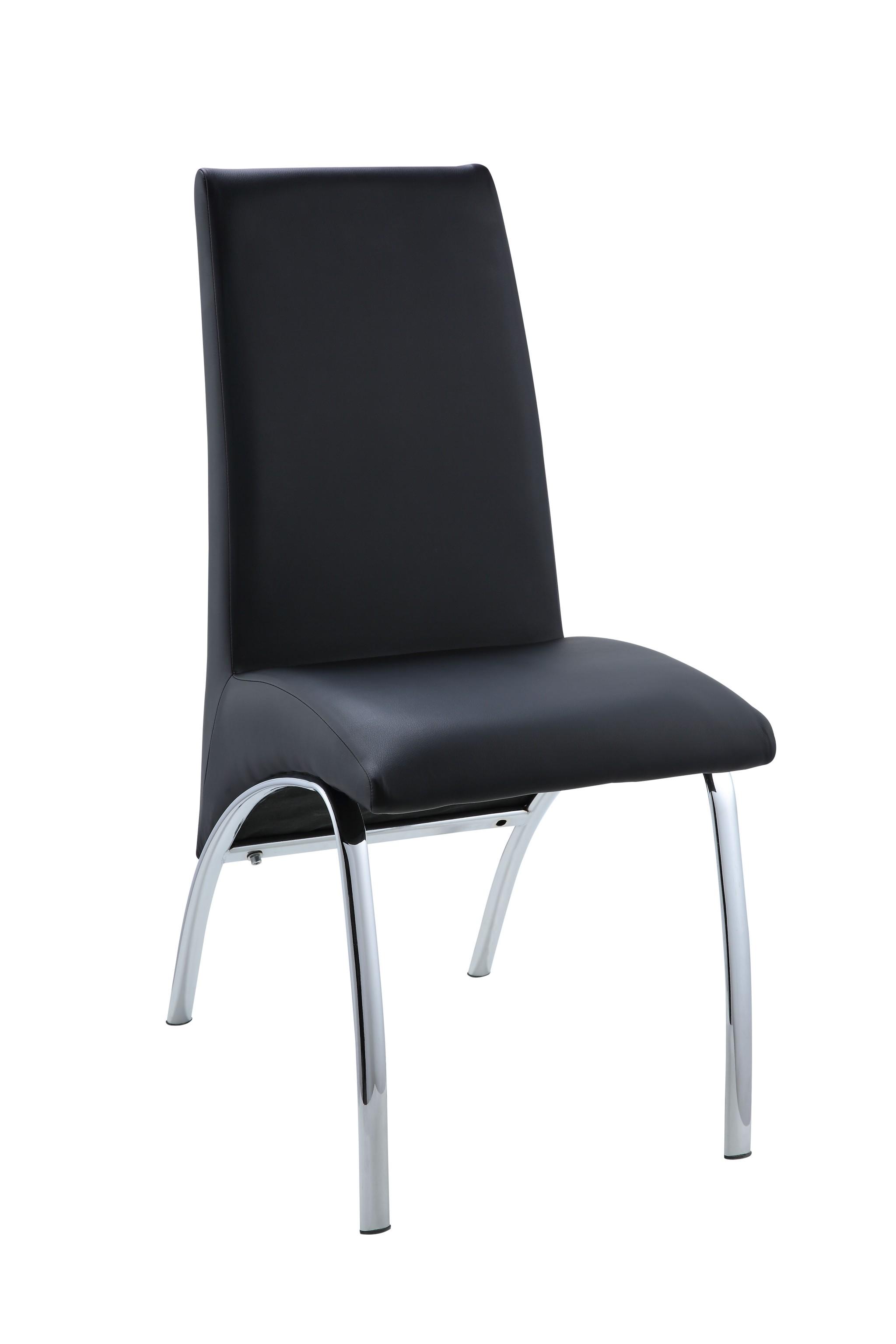 "17"" X 24"" X 38"" Black Metal Side Chair (Set-2)"