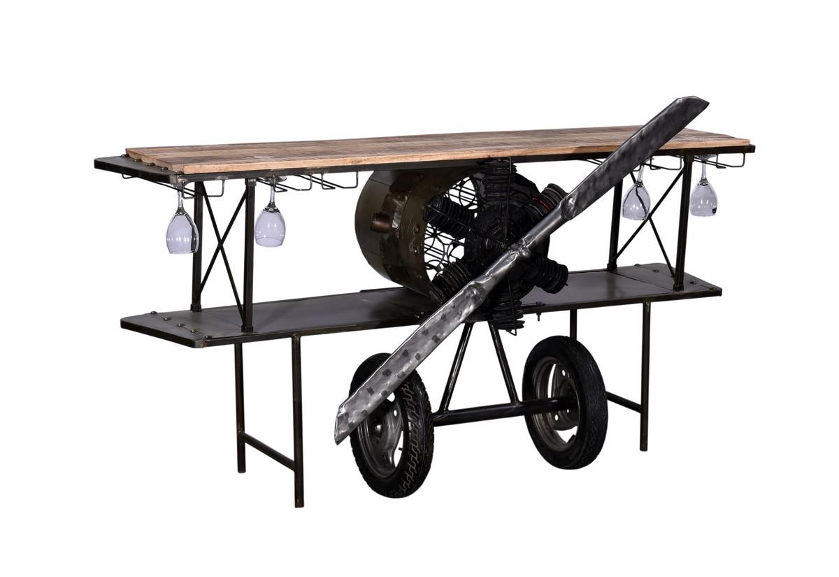 "23"" X 78"" X 36.5"" Black Airplane Bar"