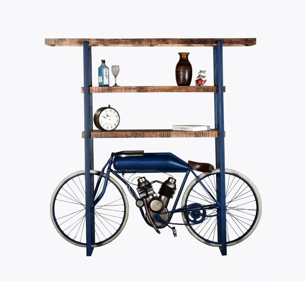"14"" X 72"" X 72"" Blue Cycle Bookshelf"