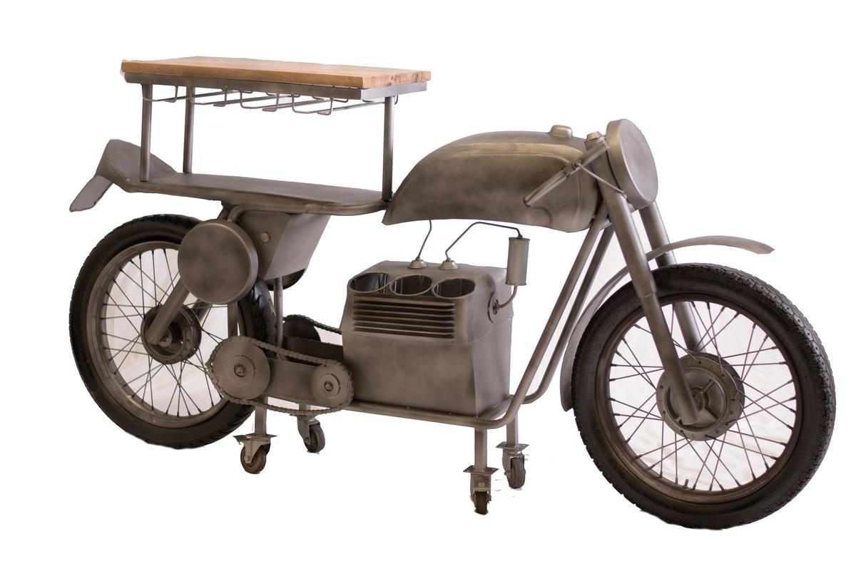 "14.5"" X 79"" X 39.5"" Silver Motorcycle Bar"