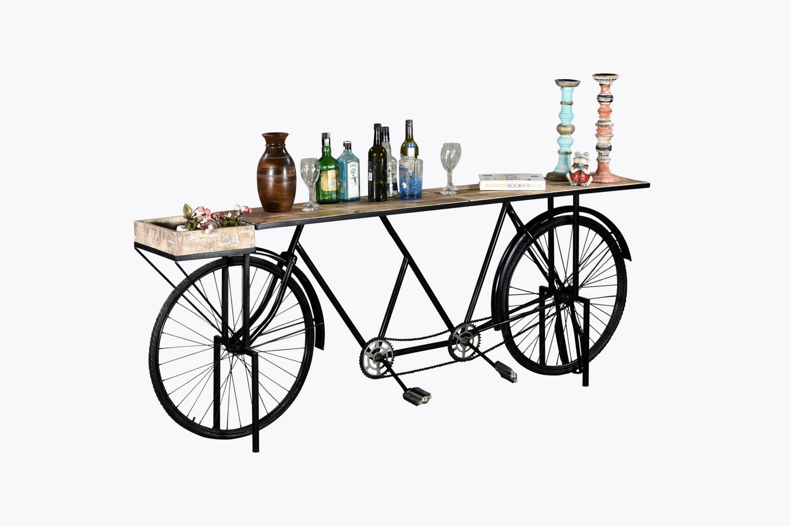 "14"" X 88"" X 33.5"" Black Tandem Bicycle Bar"
