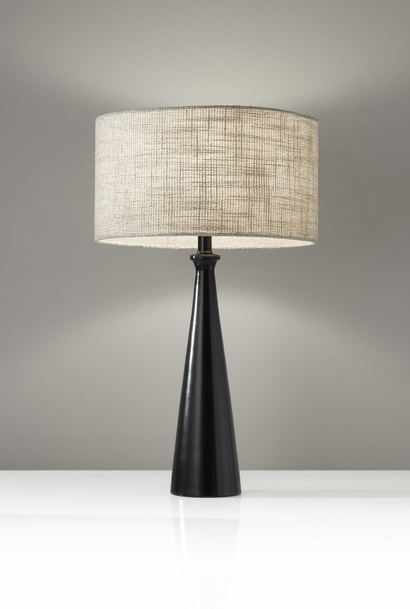 "13"" X 13"" X 21.5"" Black Metal Table Lamp"