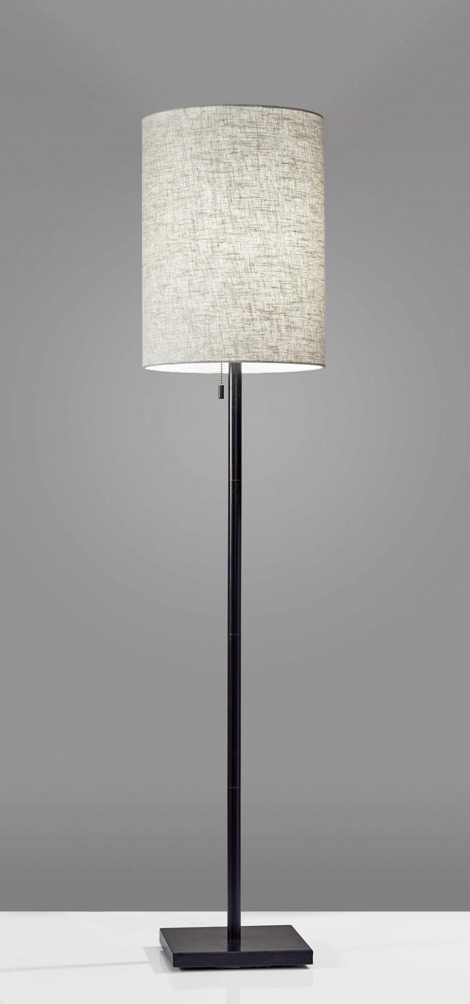 """13"""" X 13"""" X 60.5"""" Bronze Metal Floor Lamp"""