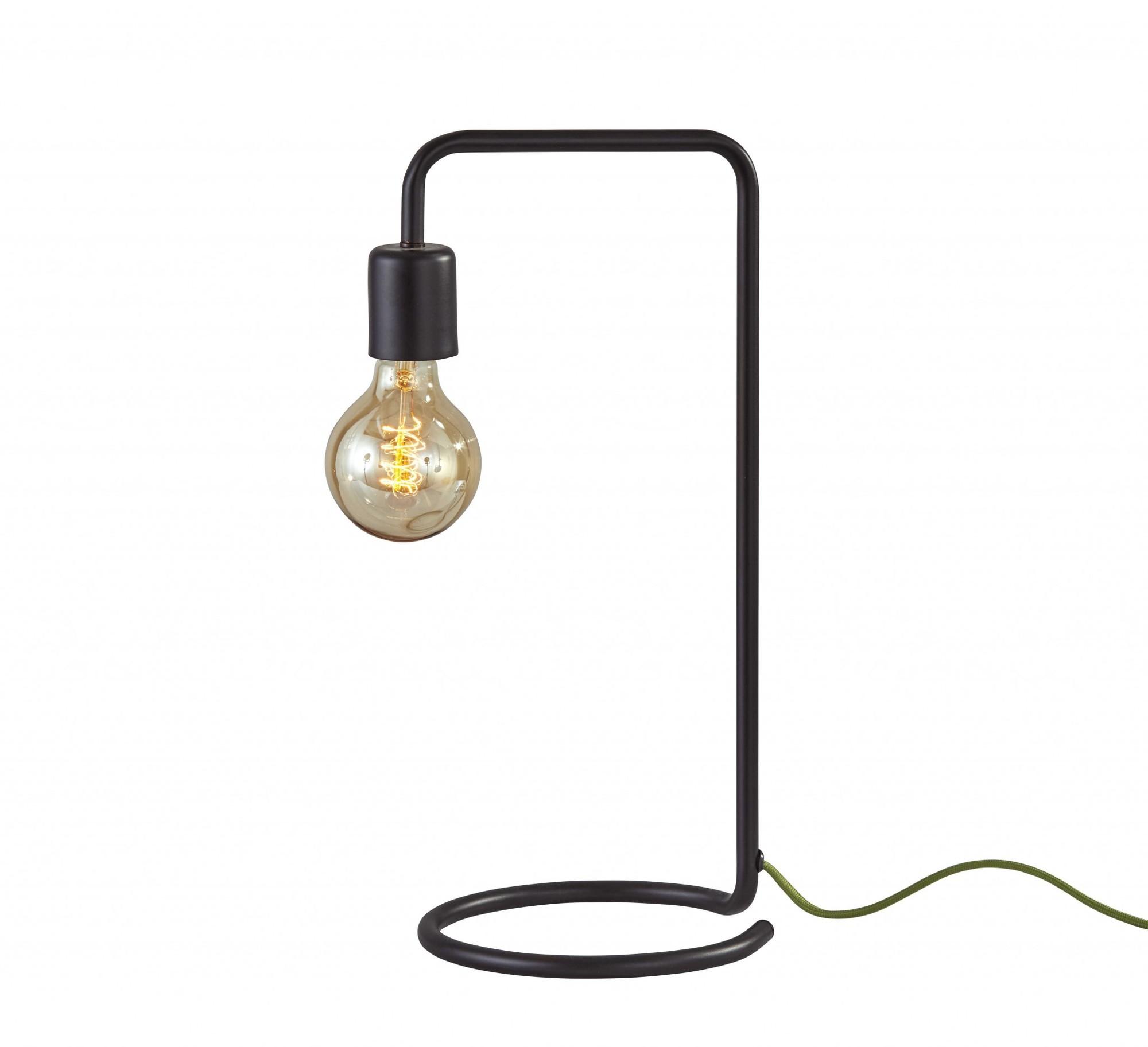 "7.25"" X 9"" X 16.5"" Brushed Steel Metal Desk Lamp"