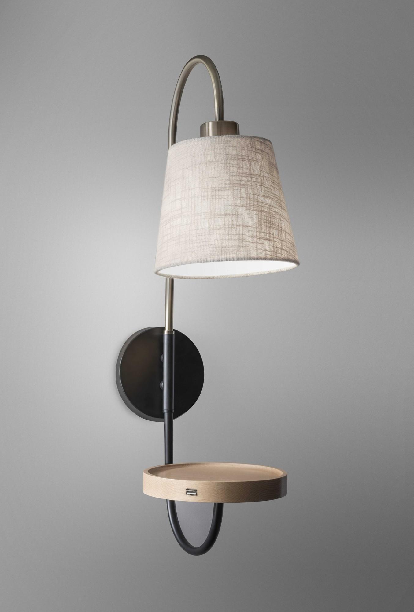 "7"" X 13"" X 25"" Brass Metal Fabric Wall Lamp"