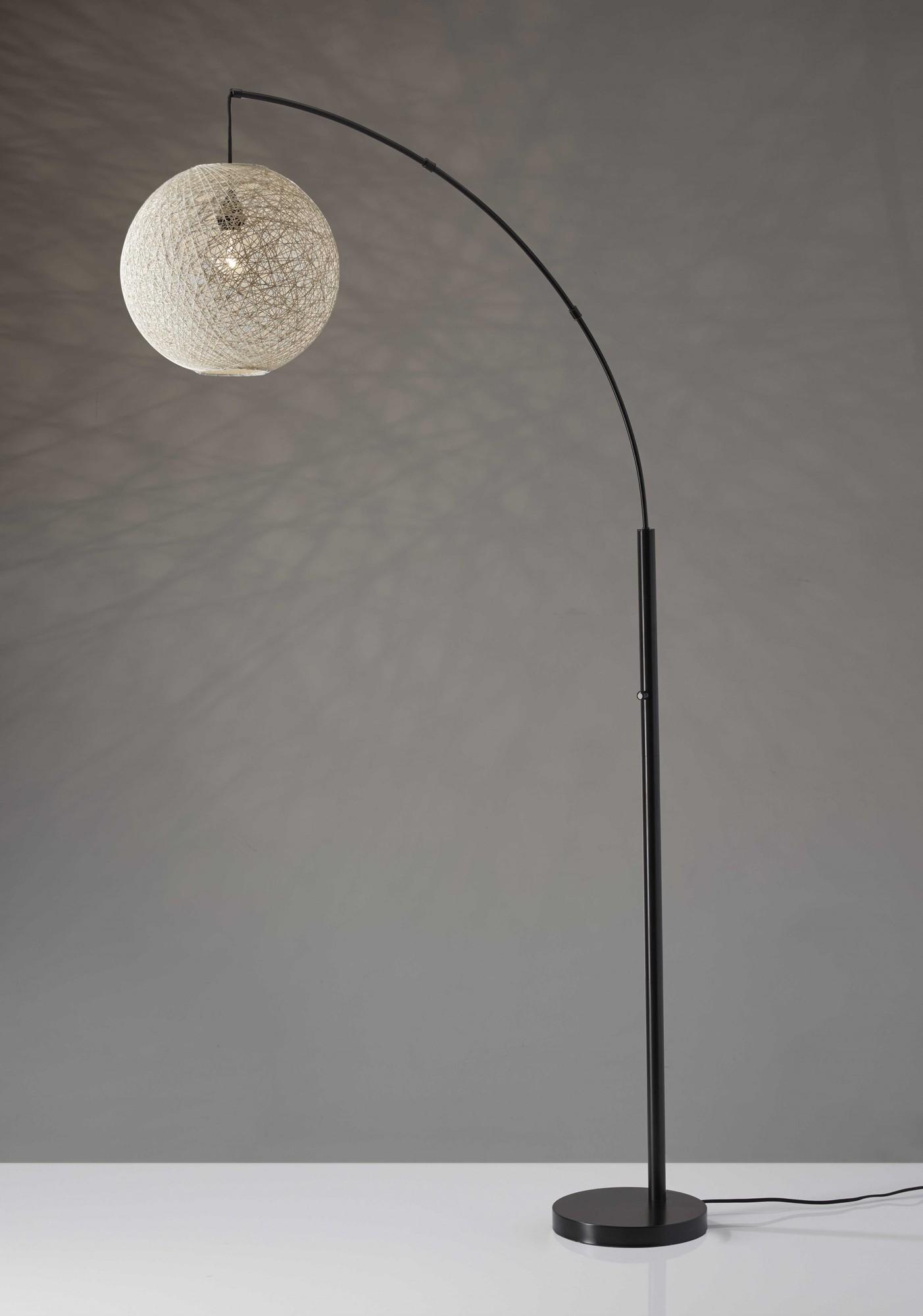 "14"" X 40"" X 76.5"" Bronze Metal Arc Lamp"