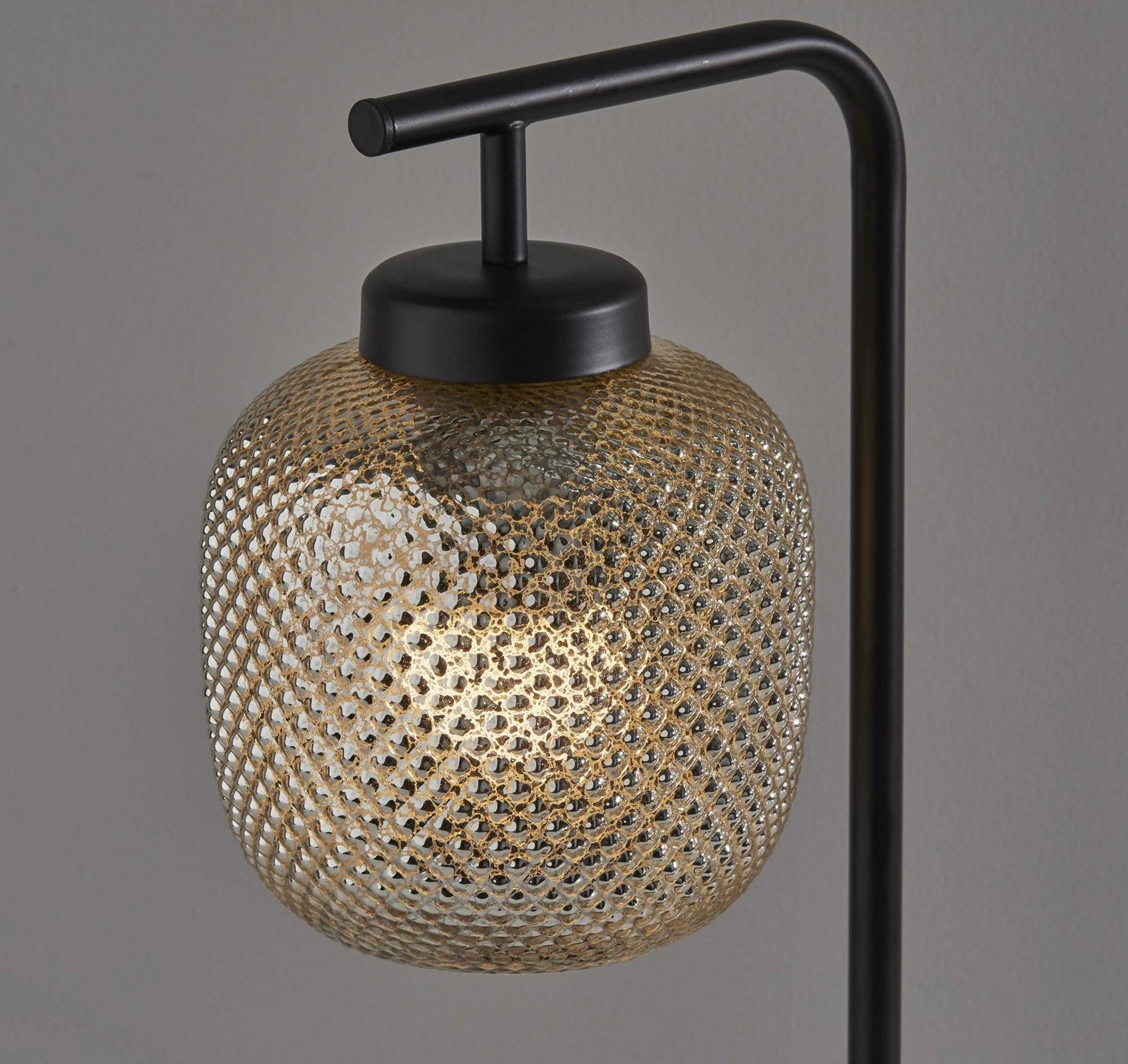 """7.5"""" X 10"""" X 19.5"""" Bronze Metal Desk Lamp"""