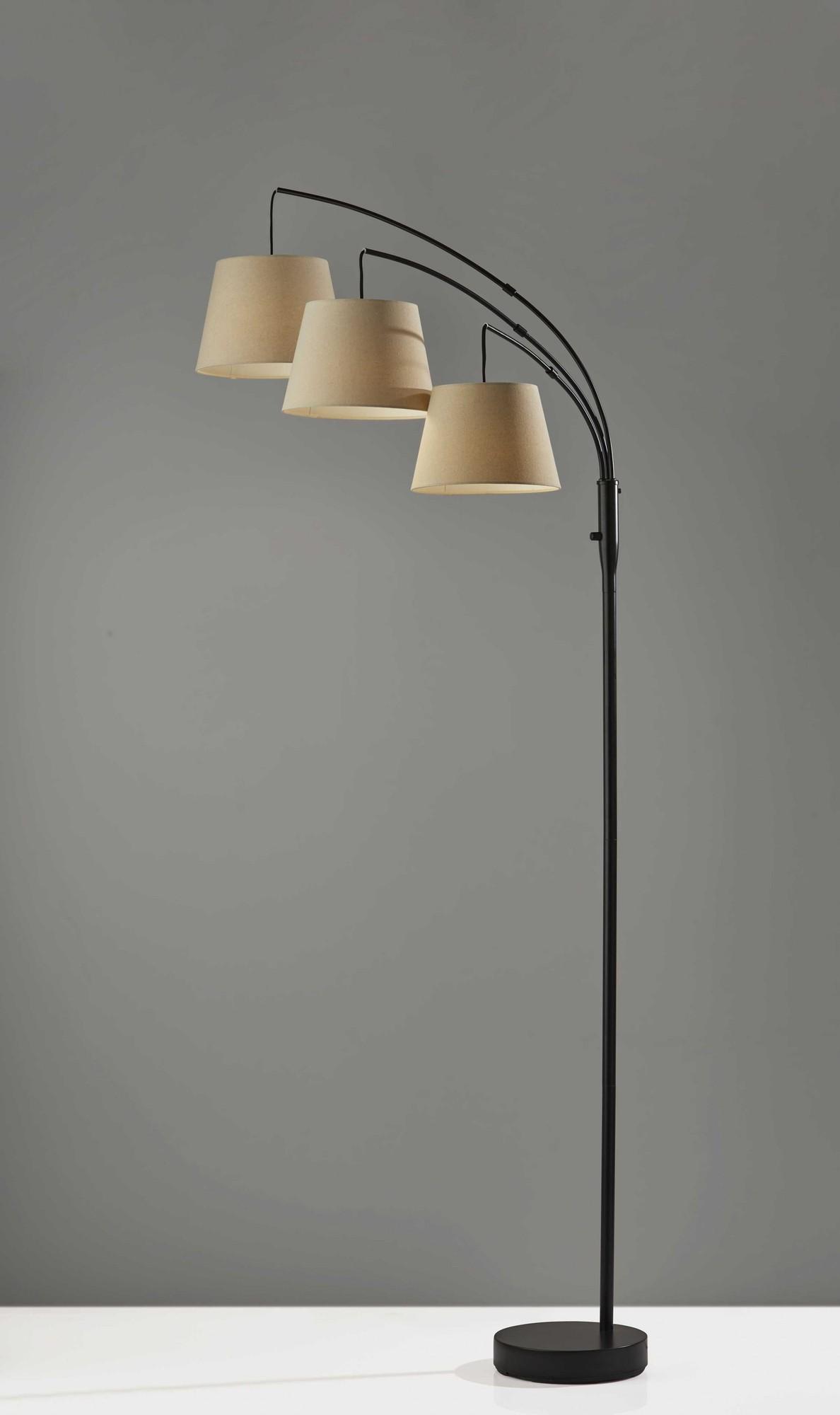 """11"""" X 46"""" X 82"""" Antique Bronze  Arc Lamp"""