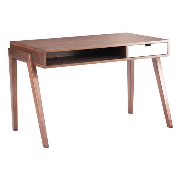 """46"""" X 26"""" X 30.3"""" Mid-Century Modern Solid Fir Desk"""