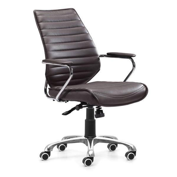 "25"" X 23.5"" X 40.5"" Esp Leatherette Low Back Office Chair"