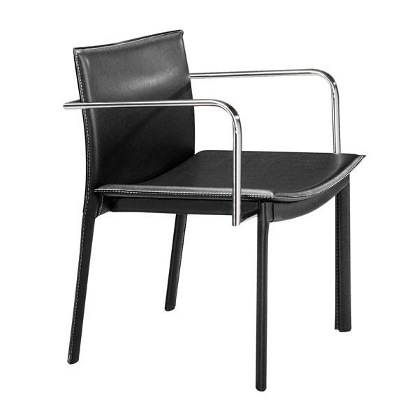 """24"""" X 22"""" X 28"""" 2 Pcs Black Leatherette Conference Chair"""