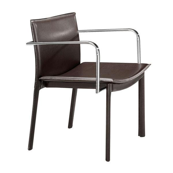 """24"""" X 22"""" X 28"""" 2 Pcs Espresso Leatherette Conference Chair"""