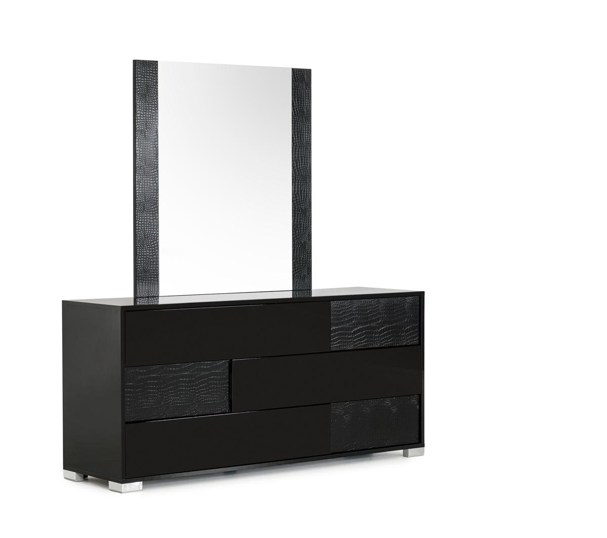 """30"""" Black MDF and Metal Dresser"""