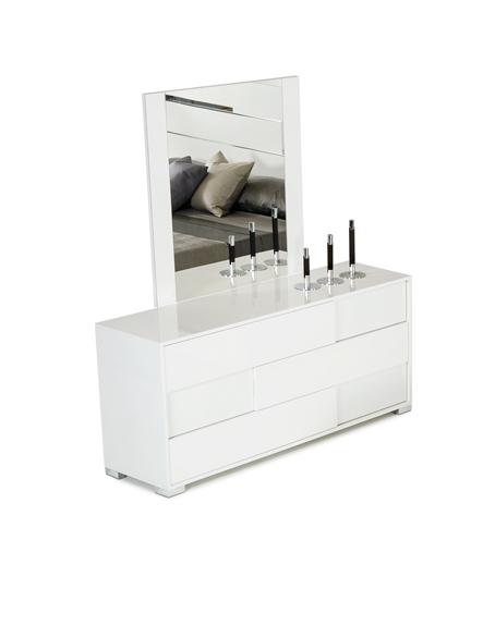 "30"" White MDF and Steel Dresser"