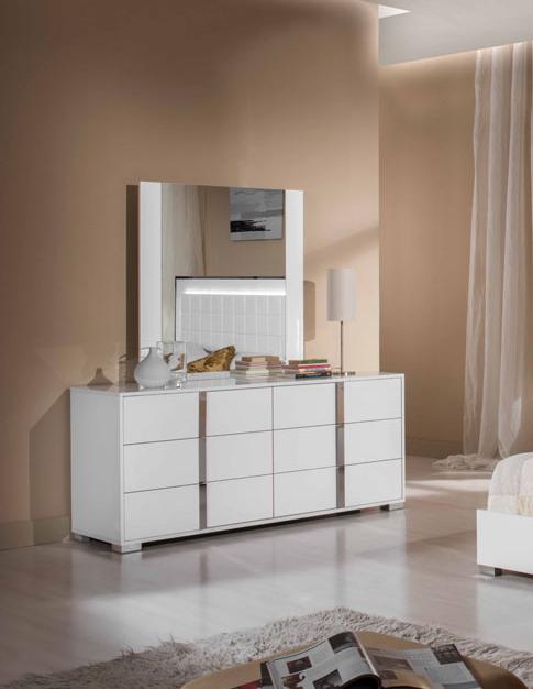 "20"" White MDF and Steel Dresser"