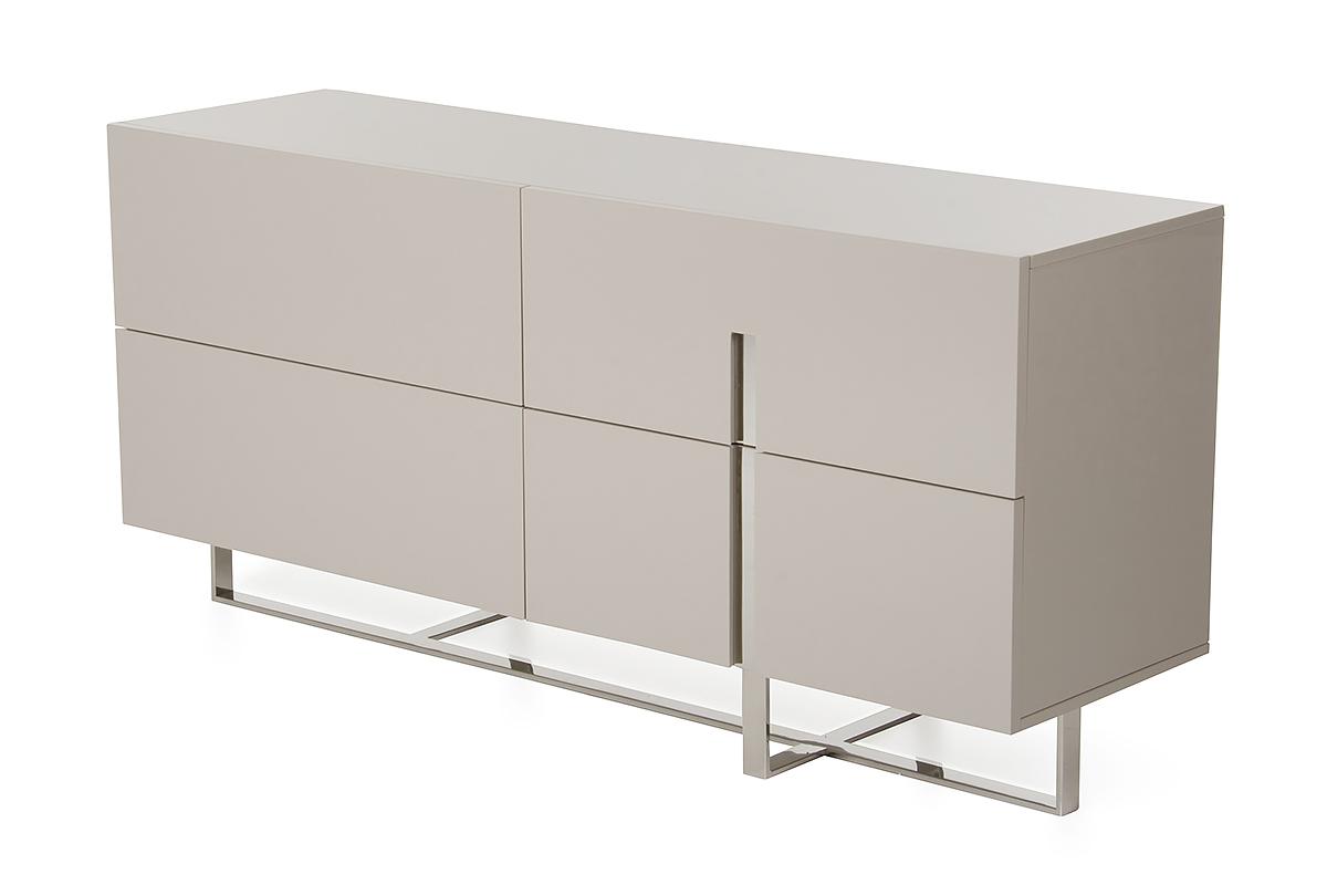 "30"" Grey MDF and Steel Dresser"