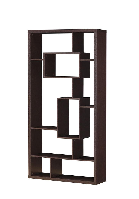 "35"" X 11"" X 71"" Cappuccino Hollow Bookcase"