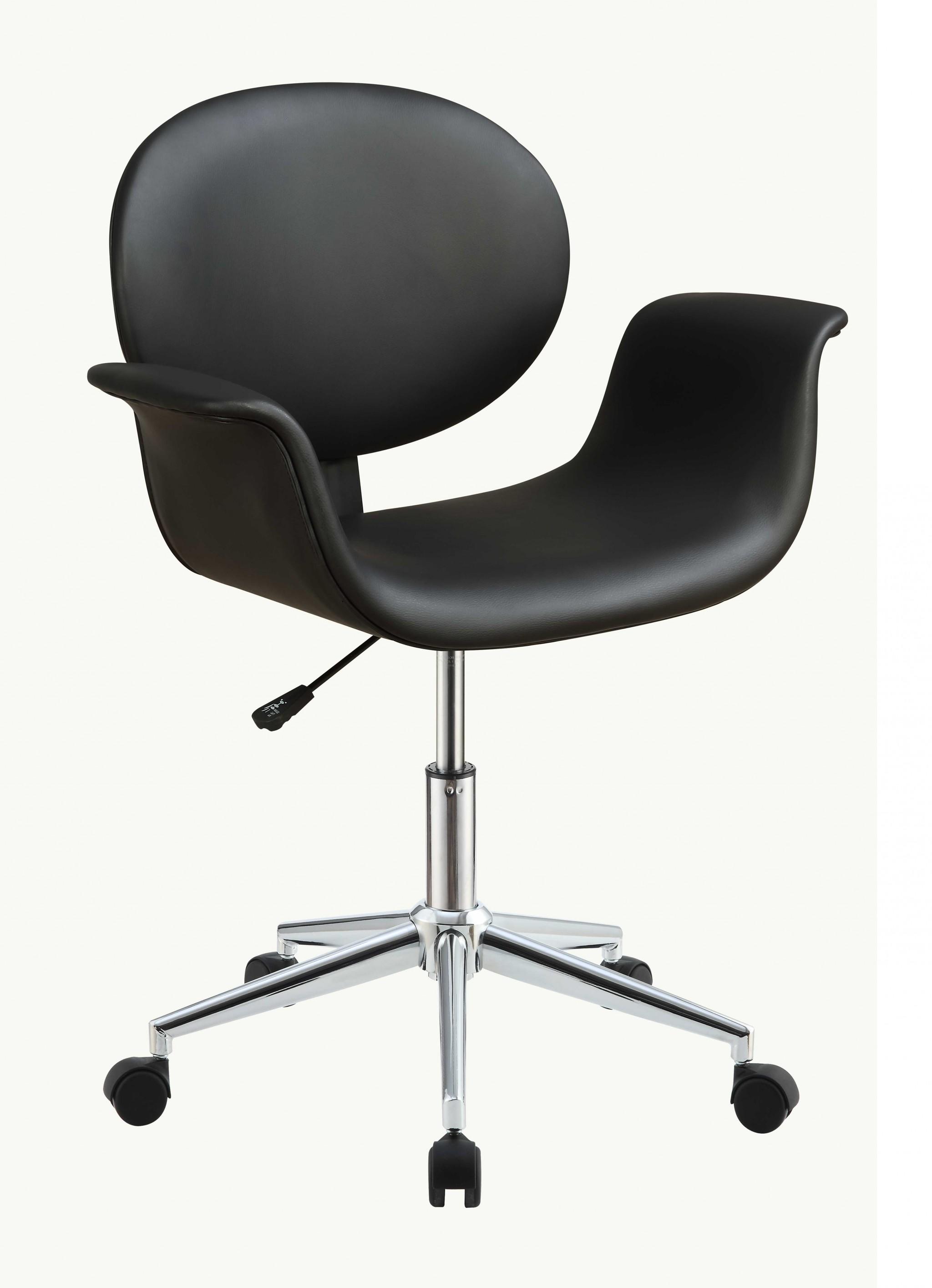 "27"" X 24"" X 34"" Black Pu Office Chair"