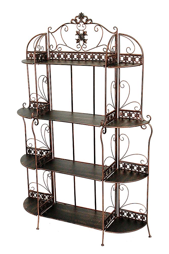 """42"""" X 11"""" X 67"""" Blackened Copper Steel Standard  Shelf Bakers Rack"""