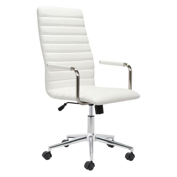 """21.7"""" X 25.6"""" X 44.3"""" White Office Chair"""