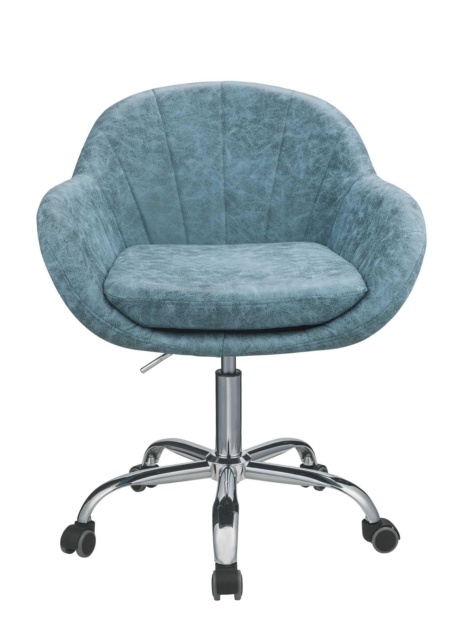 "28"" X 27"" X 31"" Peacock Metal Tube Office Chair"