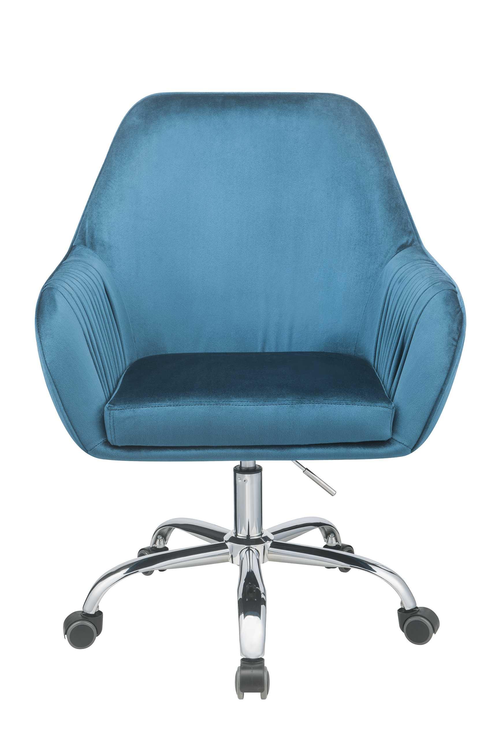 """27"""" X 22"""" X 37"""" Peacock Velvet Office Chair"""
