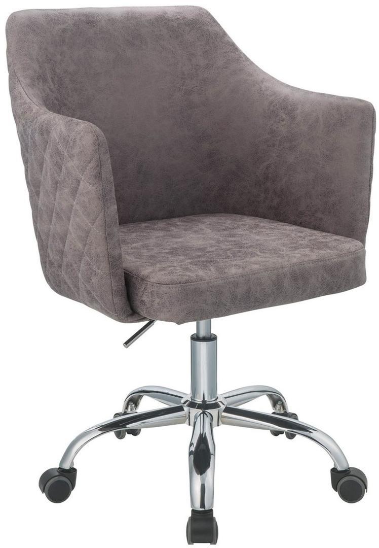 """25"""" X 23"""" X 37"""" Dark Frey Antique Pu Office Chair"""