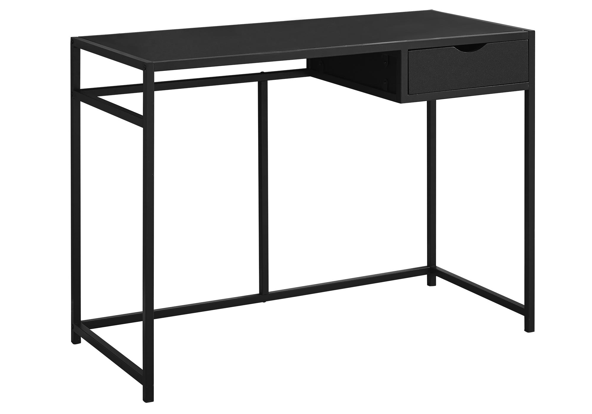 "20"" x 42.25"" x 30"" Black Mdf Metal  Computer Desk"